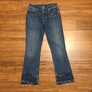 Helmut Lang Tacked Crop Flare Jeans 335-25